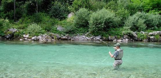 Trout fishing in Slovenia — photo 01